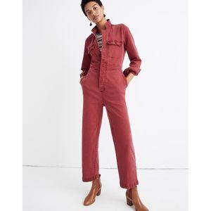 Madewell Garment-Dyed Denim Slim Coverall Jumpsuit